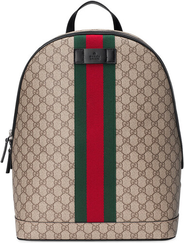 04b3268cb9 Gucci GG Supreme backpack with Web - Nude   Neutrals - Glami.cz