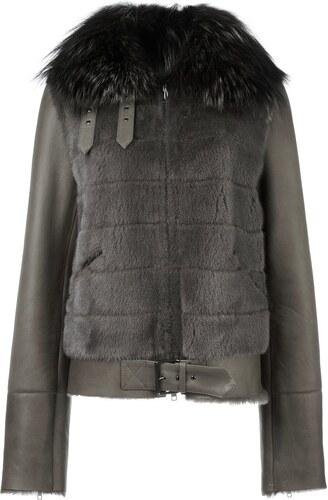 684b0b4cd88 Liska fur biker jacket - Green - Glami.cz