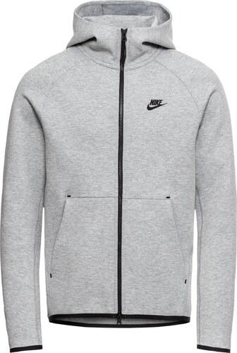 Nike Sportswear Mikina s kapucí  M NSW TCH FLC HOODIE FZ  tmavě šedá ... 95d63f285b