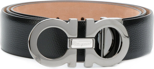 Salvatore Ferragamo double Gancini buckle belt - Black - Glami.sk e031e2b8cd9