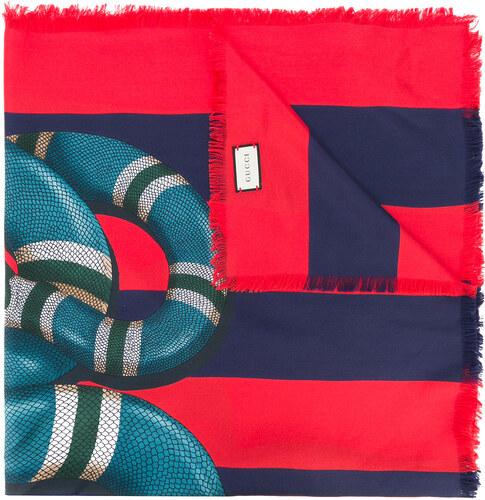 08a71e0f0 Gucci Kingsnake print scarf - Red - Glami.sk