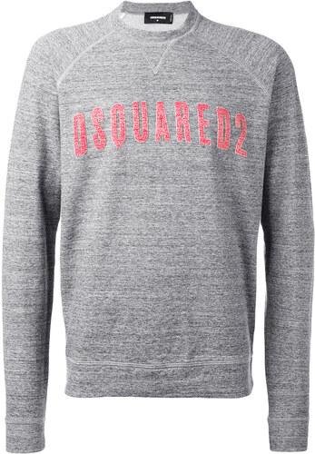 4e23b2199a Dsquared2 logo front sweatshirt - Grey - Glami.sk