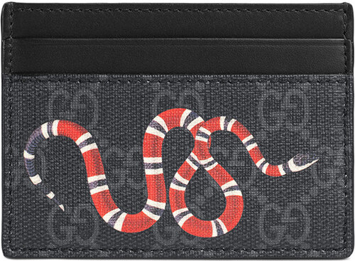 Gucci Kingsnake print GG Supreme card case - Black - Glami.sk 2e7983862f4