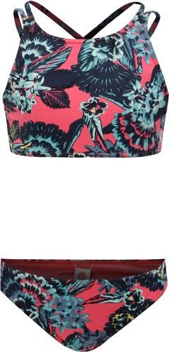 fde6897ce5d Modro-růžové holčičí květované dvoudílné plavky Roxy Le - Glami.cz
