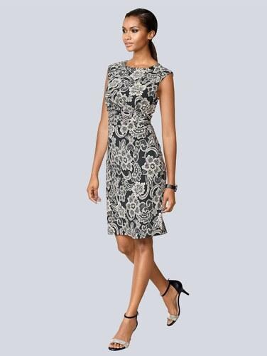 62c3b05fce89 Jersey šaty Alba Moda Čierna Biela Bahnová - Glami.sk
