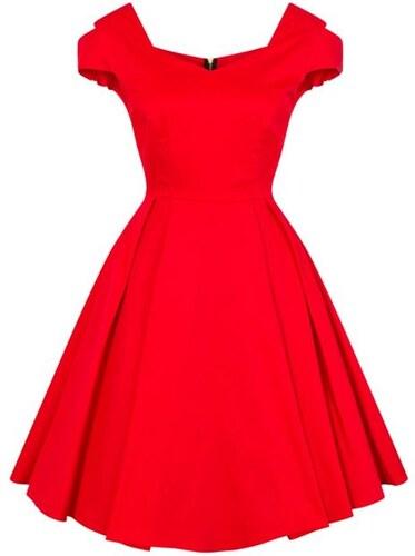 44747178b53 Dámské retro šaty Lady Vintage Bardot červené - Glami.cz
