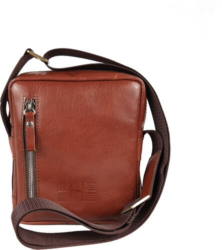 HOFFEbelts kožená taška cez rameno Cross S-Brown - Glami.sk a67feca8f6d