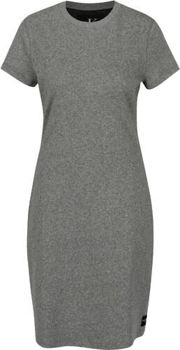 a68dba9588fd Sivé melírované šaty s krátkym rukávom Calvin Klein Jeans Disosa ...