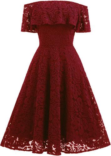 Dámské společenské šaty Kobira červené - červená 3749a10c91