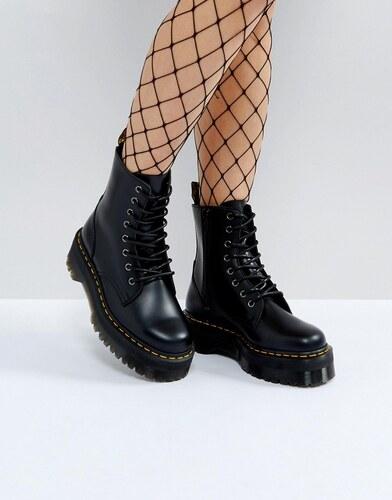 96d24a21382 Dr Martens jadon chunky flatform boots - Black polished smoot - Glami.cz