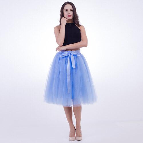 526f1539ffe ADELO TUTU sukně tylová dámská - SVĚTLE MODRÁ