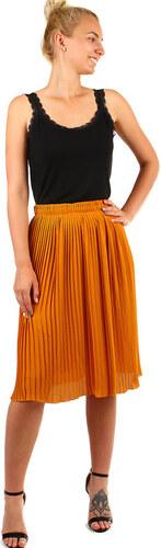 0e7a014c58f7 Glara Dámska plisovaná skladaná midi sukňa s pružným pásom - Glami.sk