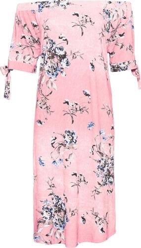Bonprix Úpletové šaty s kvetovanou potlačou - Glami.sk a2e43295fbf
