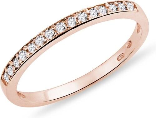 Snubni Prsten S Diamanty V Ruzovem Zlate Klenota K0443014 Glami Cz