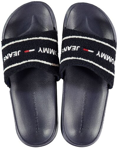 Pánské pantofle Tommy Hilfiger Terry Pool Navy - Glami.cz 35865422cf