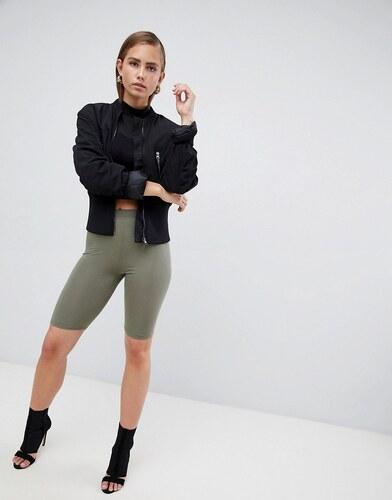 PrettyLittleThing basic Legging Shorts - Khaki - Glami.cz 96014e3614