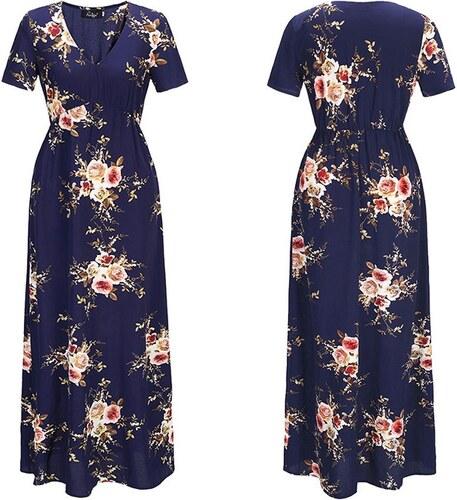 64413646967 Dámské letní šaty Blanche modré - modrá - Glami.cz