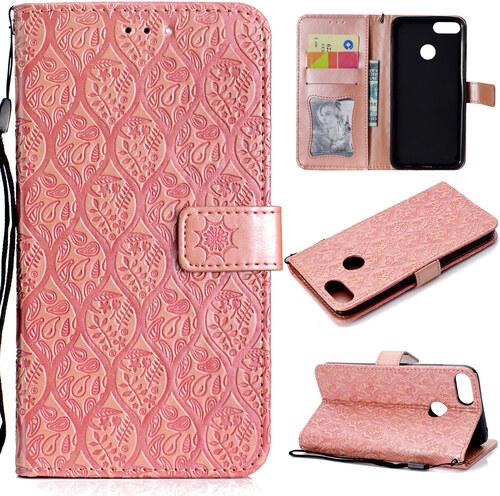 Flipové peněženkové RATAN pouzdro peněženka pro Huawei Mate 10 Lite - růžové e3c6a987775