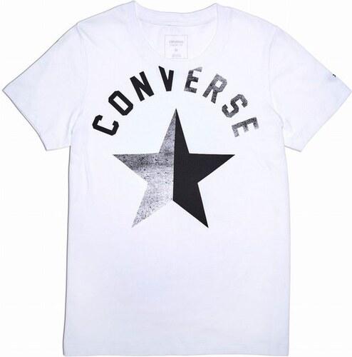 5c1a9cf025e Dámské tričko Converse W Converse Split Star Crew Tee S white - Glami.cz