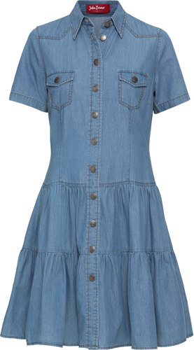 04dc6915f3f2 Bonprix Džínsové šaty na gombičky