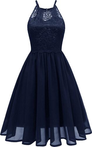 Dámské společenské šaty Haleria modré - modrá - Glami.cz 194a5a6355