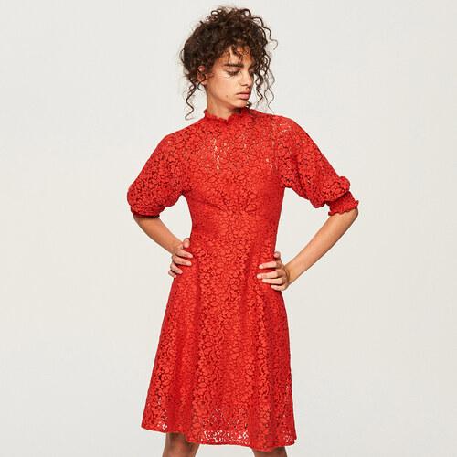 Reserved - Čipkované šaty - Červená - Glami.sk 51500864378