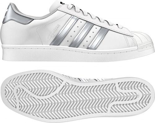 Dámske tenisky adidas Originals SUPERSTAR (Biela   Strieborná   Čierna) 2142ae8742e