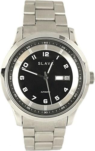 aa20e4d4779 Pánské stříbrné automatické hodinky SLAVA - Glami.cz