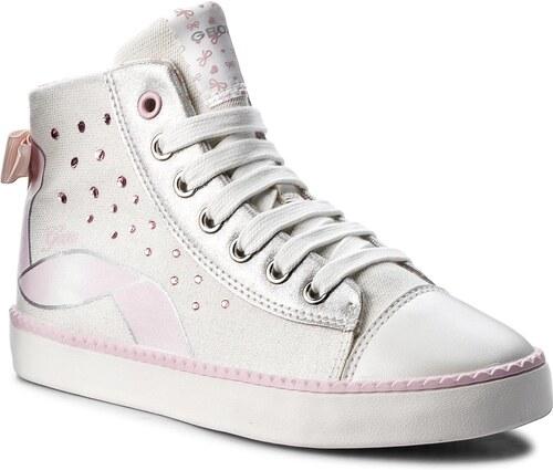 Kotníková obuv GEOX - J Ciak G. B J8204B 0ASKC C0814 S White Lt Pink ... 42bbe54954