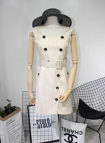 f28a5fc8f603 BUfashion Marhuľové šaty na gombíky - Glami.sk