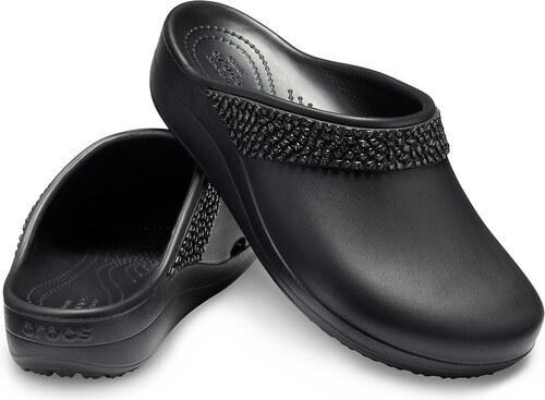 901f1683d18d Crocs čierne šľapky Sloane Diamante Clog Black s kamienkami - Glami.sk