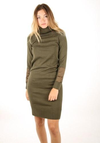 9e6d3d6956 Calvin Klein dámske zelené šaty s rolákom - Glami.sk