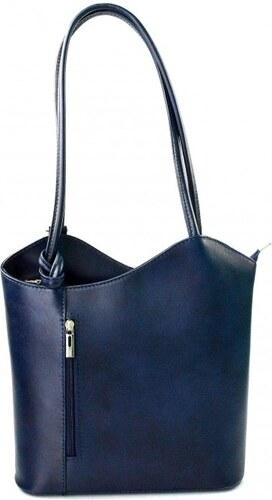 7b2ef94fa59d Kožená luxusní tmavě modrá crossbody kabelka Grand Royal VERA PELLE 26124
