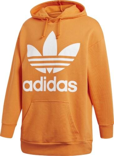 adidas Originals Mikina Trefoil Oversize Orange - Glami.cz 8e28b29d27