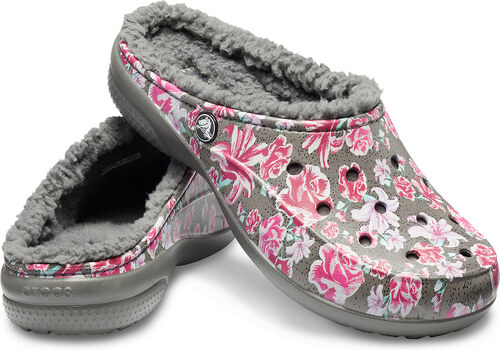 -5% Crocs farebné zateplené šľapky Freesail Graphic Lined Multi  Floral Slate Grey ba91a3a049c