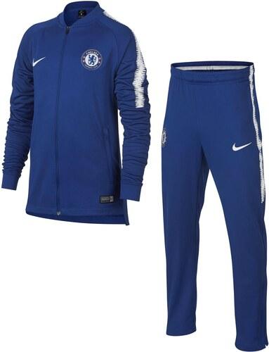 1aefec3241523 Nike Chelsea FC Squad Tracksuit Junior Boys Blue/White - Glami.cz