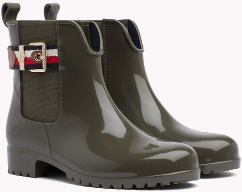 Tommy Hilfiger khaki gumicsizma Corporate Belt Rain - Glami.hu f06cd959da