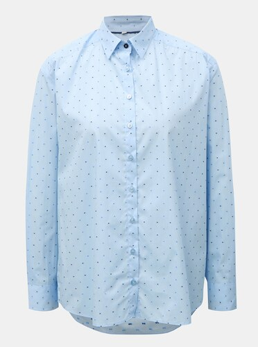 144dc5f19392 Svetlomodrá dámska voľná košeľa s bodkovaným vzorom VAVI - Glami.sk