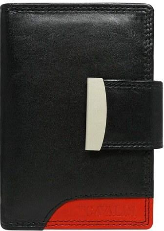 Cavaldi kožené peňaženky veľké čierne s červenou RD-04 Red - Glami.sk ba624fed696