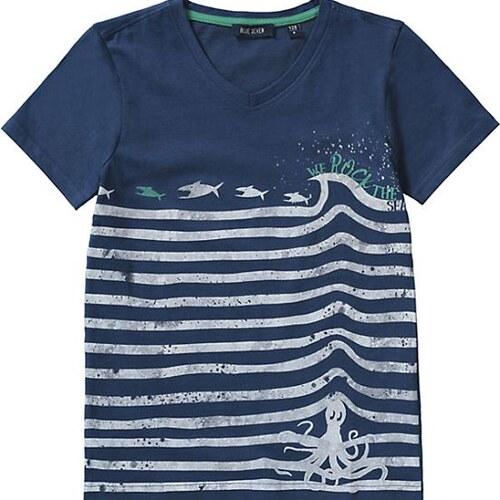 Blue Seven Chlapecké tričko s chobotnící a žraloky - modré - Glami.cz ee595d723a