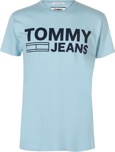 0877d50857 Tommy Hilfiger Triko Tommy Jeans Essential Logo Modré - Glami.cz