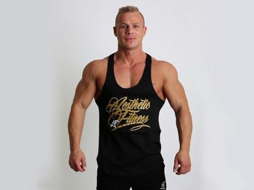 3c836732236 AF fitness Tílko Aesthetic fitness - GOLD - Glami.cz