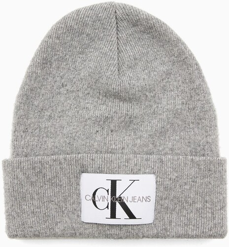 Calvin Klein sivá čiapka J Basic Women Knitted - Glami.sk 5dcc5b3a28b