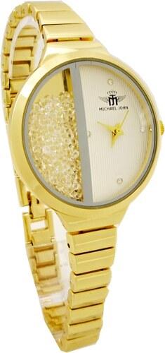 ac36b867442 Dámské hodinky Michael John Delikte zlaté 523ZD - Glami.cz