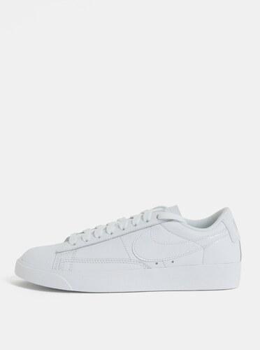 ce05046c1cb8 Biele dámske kožené tenisky Nike Blazer Low Leather - Glami.sk