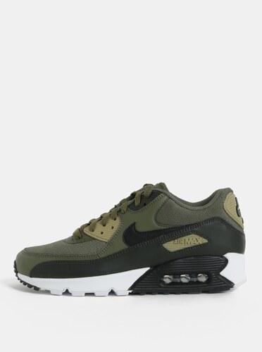 Kaki pánske kožené tenisky Nike Air Max  90 Essential - Glami.sk fee019e4c60