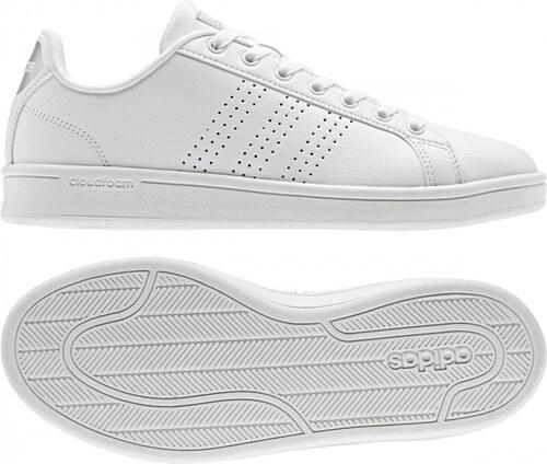 Dámske tenisky adidas Performance CF ADVANTAGE CL W (Biela   Strieborná) cfe907d30da