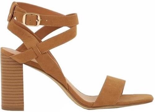 NEW LOOK Hnědé sandále na vysokém podpatku - Glami.cz 33c36a23c9