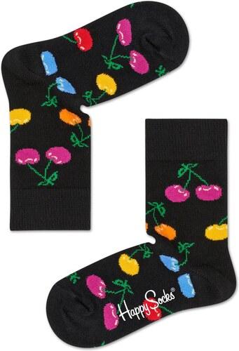 c4369c23ef7 Dětské Dětské černé ponožky Happy Socks s barevnými třešničkami ...