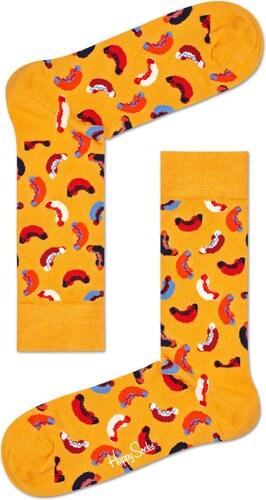 -20% Žluté ponožky Happy Socks s barevným vzorem Hotdog - M-L (41-46) 0bfaf75da3